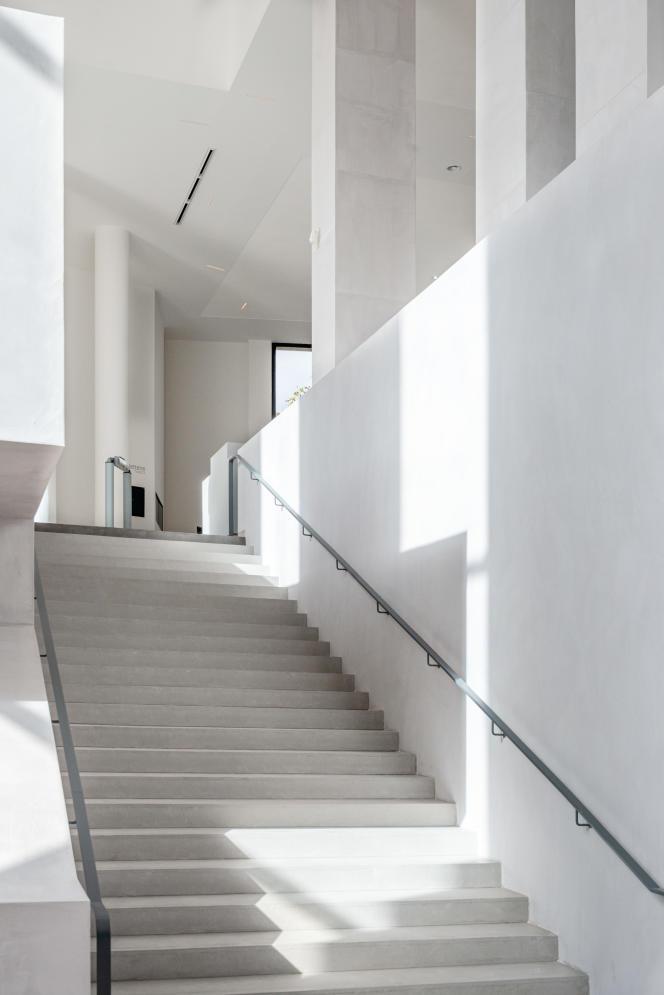 Le nouveau hall d'entrée du Musée d'art moderne de la Ville de Paris, le 7 octobre 2019, avant sa réouverture.