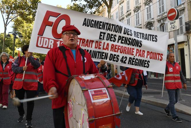 Manifestation de retraités à Marseille, le 8octobre2019.