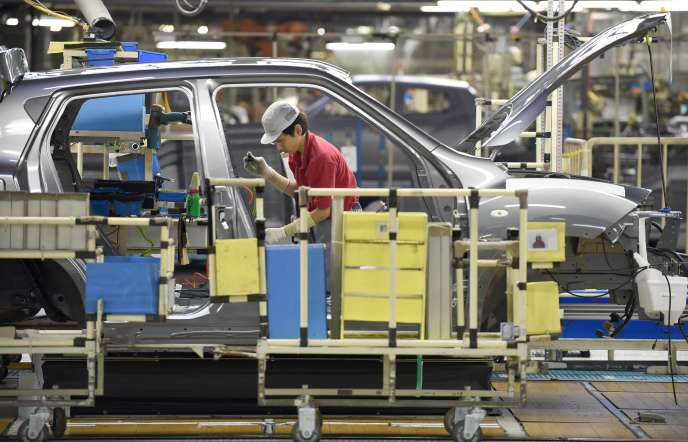 A l'usine Nissan deYokosuka, près de Tokyo, en septembre 2014.