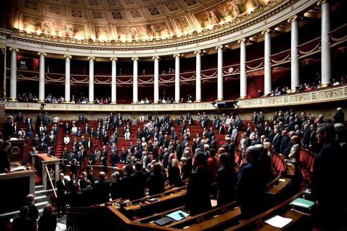 Les députés ont rendu hommage aux victimes de l'attaque de la Préfecture de police de Paris, àl'Assemblée nationale, le 8 octobre.