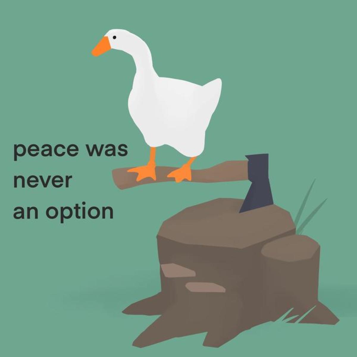 « La paix n'a jamais été une option».