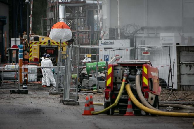 Le site de l'usine chimique Lubrizol à Rouen.