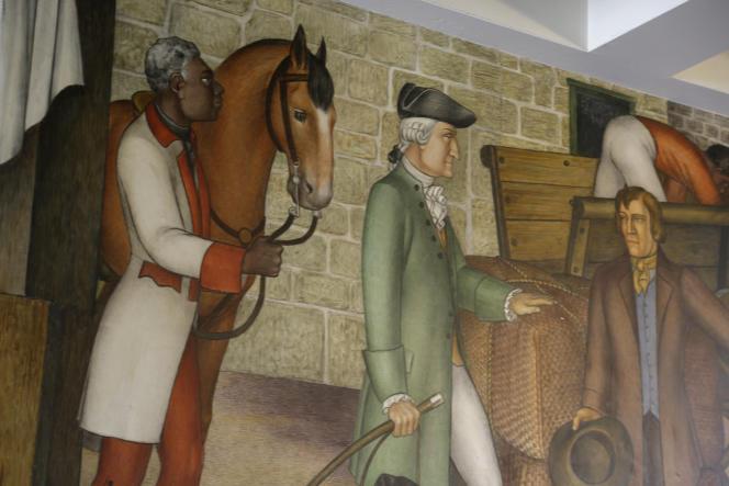 « La Vie de George Washington» de Victor Arnautoff a été censurée par le rectorat de San Francisco car des élèves amérindiens et afro-américains du lycée dont elle orne les murs depuis 1936 l'ont jugée offensante à leur égard. Elle montre le rôle de George Washington dans le passé esclavagiste des Etats-Unis et dans les guerres contre les Amérindiens.