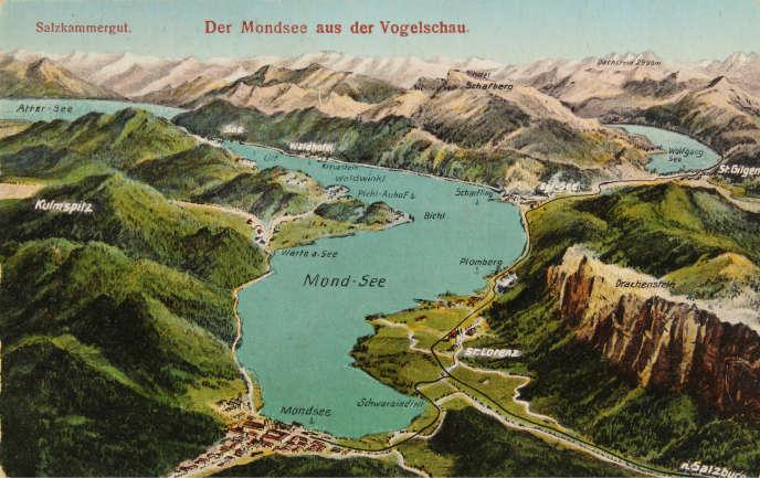 Carte postale du Mondsee (Autriche), vers 1935.