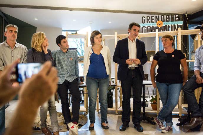 Conférence de presse pour le lancement de la campagne des municipales 2020 de «Grenoble en commun», à Grenoble, le 1er octobre.