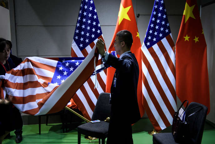 Préparation de la rencontre entre Donald Trump et Xi Jinping lors du sommet du G20 à Osaka (Japon), le 29 juin.