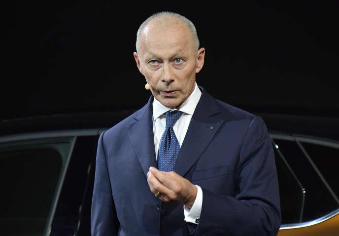 Le directeur général de Renault, Thierry Bolloré, le 12 septembre, à Francfort.