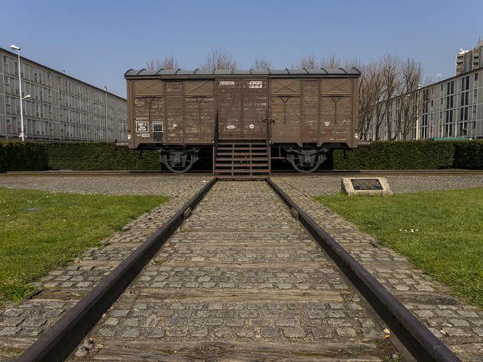 Mémorial de la déportation du camp de Drancy: le wagon.