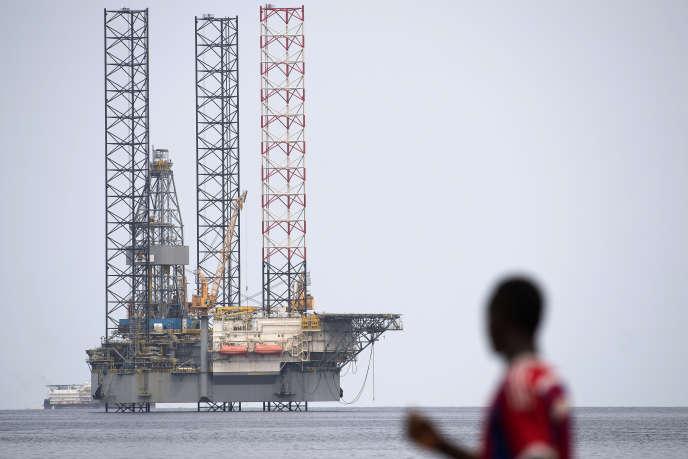 Une plate-forme pétrolière dans le golfe de Guinée, en janvier 2017.