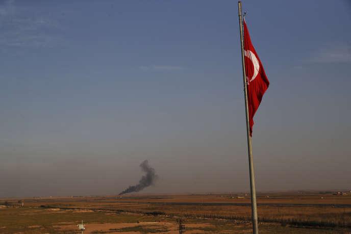 A Akcakale, du côté turc de la frontière avec la Syrie, le 9 octobre 2019.