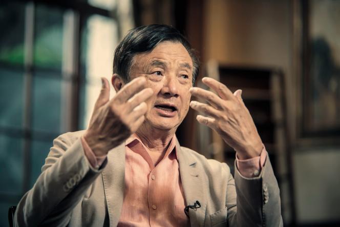 Ren Zhengfei, au siège de Huawei, à Shenzhen, en Chine, le 24 mai.