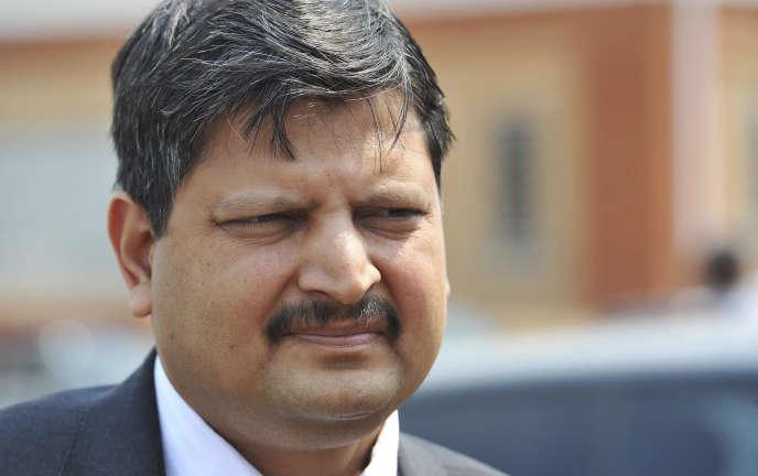 Atul Gupta en 2010, l'un des trois frères de la famille d'origine indienne impliquée dans de nombreuses affaires de corruption sous les deux mandats du président sud-africain Jacob Zuma.
