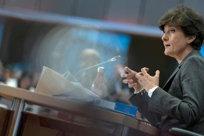 Sylvie Goulard, lors de sa seconde audition devant les parlementaires européens, jeudi 10octobre.