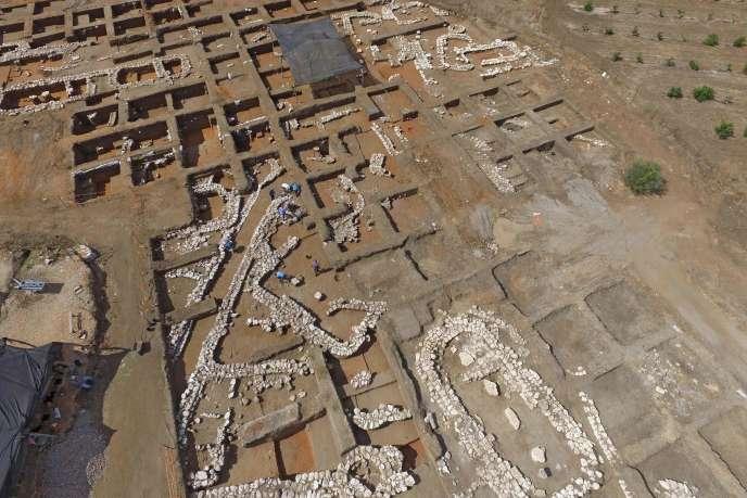 Vue aérienne du site d'En-Esur (Israël).