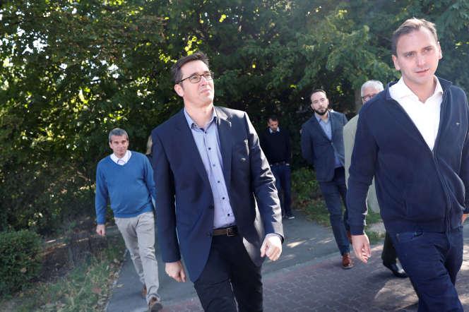 Gergely Karacsony, candidat d'une coalition de partis d'opposition pour la mairie de Budapest, le 18 septembre.