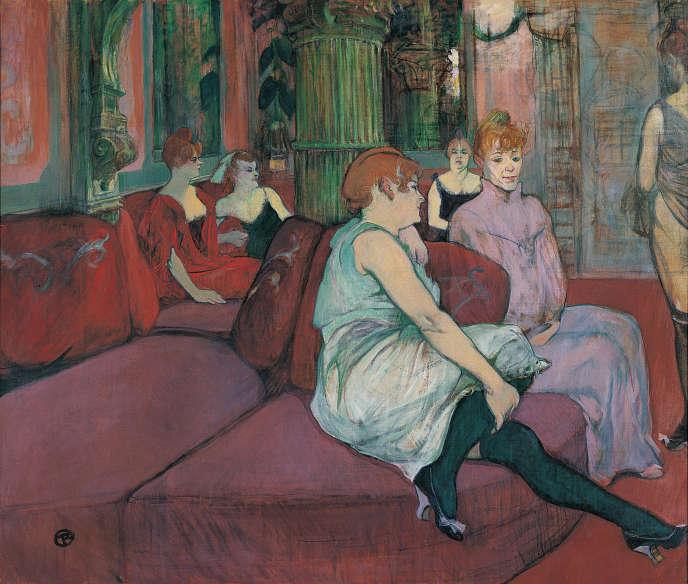 «Au Salon de la rue des Moulins»(1894), de Toulouse-Lautrec.