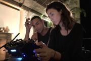 Olivier Rousteing et la réalisatrice Anissa Bonnefont.