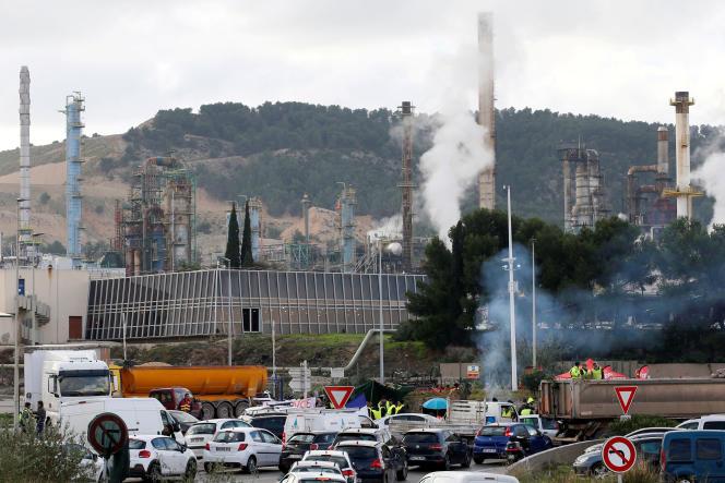 Raffinerie Total de La Mède (Bouches-du-Rhône), le 22 novembre 2018.