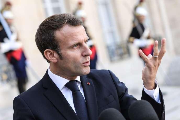 Emmanuel Macron, à l'Elysée, le 11 octobre.