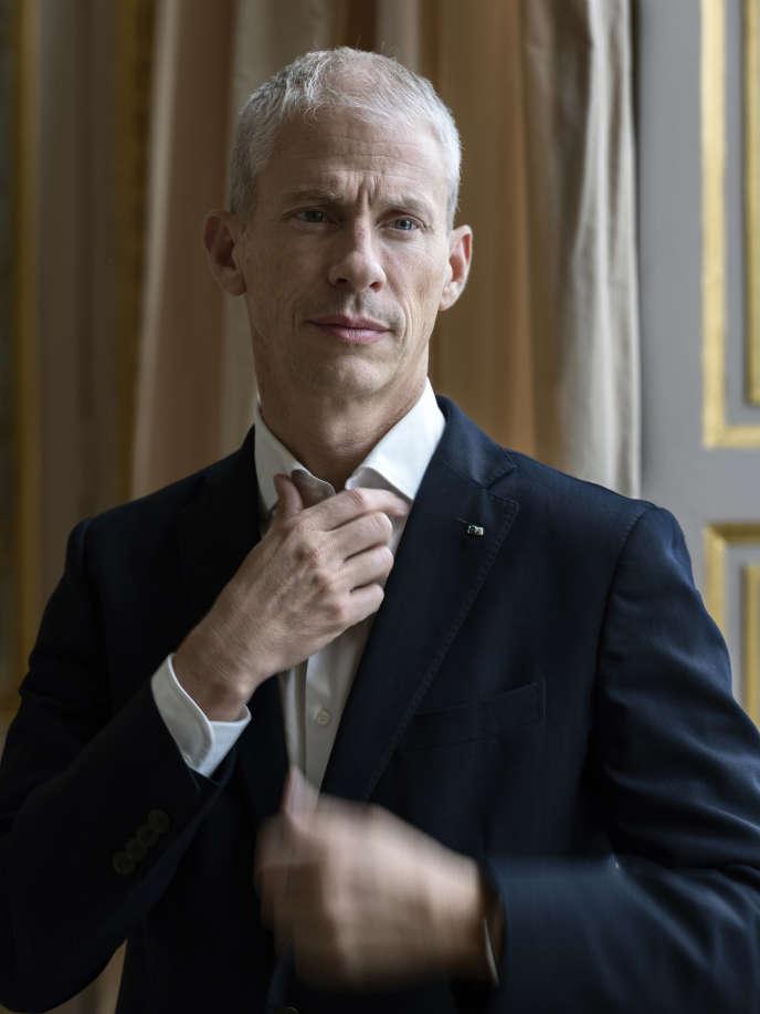 Franck Riester dans son bureau au ministère de la culture, le4 octobre.
