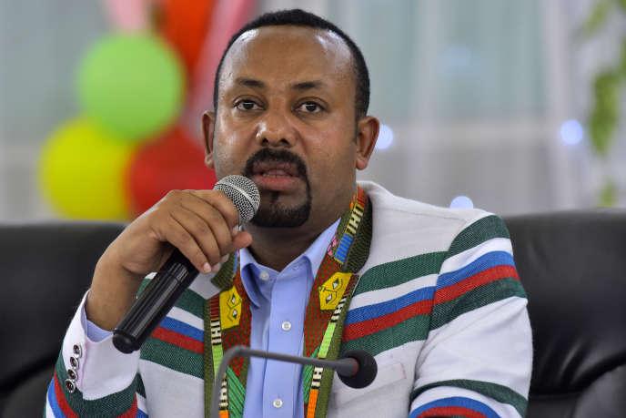 Le premier ministre éthiopien Abiy Ahmed, lors d'un discours à Bonga, principale ville de la province de Kaffa, le 15 septembre 2019.