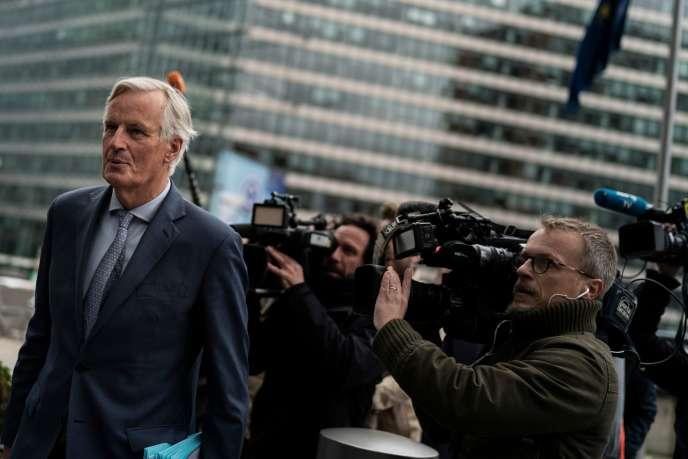 Le négociateur en chef de l'Union européenne pour le Brexit, Michel Barnier, àBruxelles, le 11 octobre.