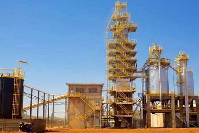 L'usine Carrières et chaux du Mali créée par Madani Diallo à Kayes, dans le centre du pays.