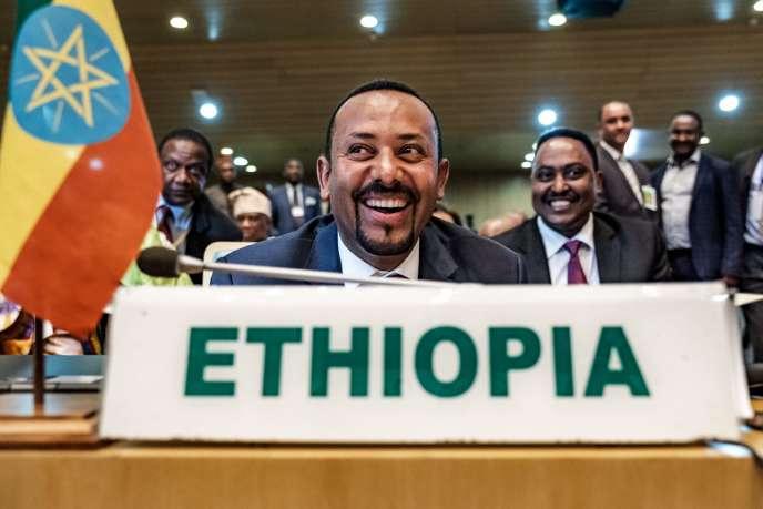Abiy Ahmed au siège de l'Union africaine à Addis-Abeba, en Ethiopie, le 17 janvier.