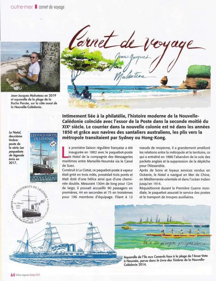 Jean-Jacques Mahuteau, dans« Timbres magazine».