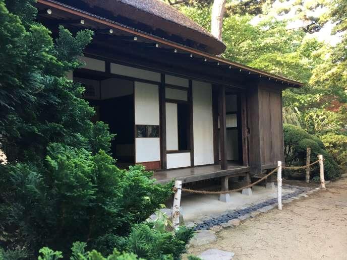 L'une des maisons du village japonais, après sa restauration.