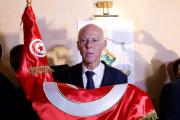 Le nouveau président tunisien Kaïs Saïed, le 13 octobre, à Tunis.