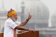 Le Premier ministre indien Narendra Modi, le 15 août 2019 à Delhi en Inde.