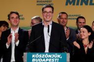 Gergely Karacsony, vainqueur de l'élection municipale à Budapest, le 13 octobre en Hongrie.