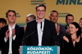 Le président du petit parti de centre gauche Dialogue pour la Hongrie,Gergely Karacsony a remporté la mairie de Budapest, le 13 octobre.