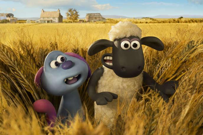 Le lapin bleu extraterrestre, Lu-La, et Shaun le Mouton.