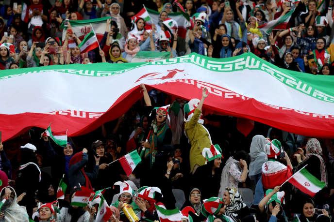 A Téhéran, le 10 octobre, pendant le match contre le Cambodge.
