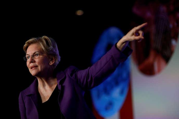 La candidate démocrate Elizabeth Warren, au sommet des syndicats pour tous, à Los Angeles, le 4 octobre.