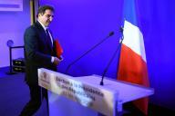 Christian Jacob, après son élection à la présidence du parti Les Républicains, à Paris, le 13 octobre.
