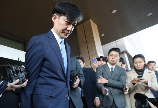 Le ministre sud-coréen de la justice, Cho Kuk, le 14 octobre à Séoul.