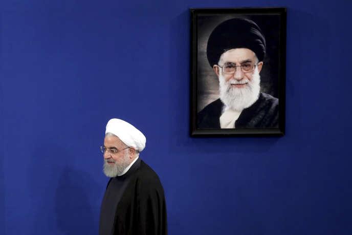 Le président iranien Hassan Rohani lors d'une conférence de presse à Téhéran, le 14 octobre.