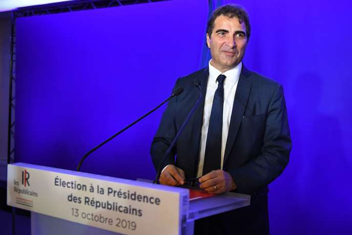 Christian Jacob a été élu président du parti Les Républicains (LR) avec 62,58 % des voix, à Paris, le 13 octobre.