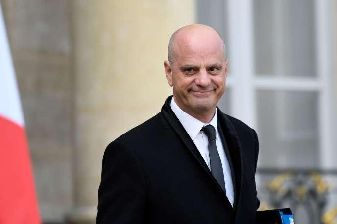 Le ministre de l'éducation nationale, Jean-Michel Blanquer, à l'Elysée, le 9 octobre.