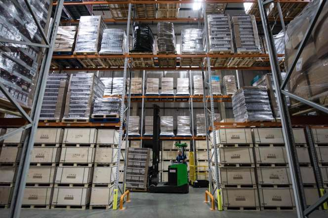 Un entrepôt dugroupe NXqui propose des services de stockage aux entreprises britanniques, le 7 janvier 2019 àCrick, au Royaume-Uni.