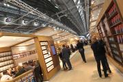 Des visiteurs à la Foire du livre de Francfort, le 10 octobre 2018.