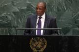 Le président guinéen Alpha Condé à New York, au siège des Nations unies, le 25 septembre 2019.
