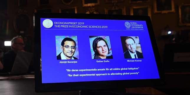Le prix Nobel d'économieà Esther Duflo, Michael Kremer et Abhijit Banerjee pour leurs travaux sur la lutte contre la pauvreté