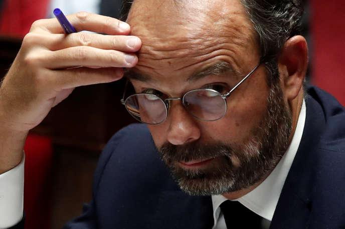 Le premier ministre Edouard Philippe à l'Assemblée nationale le 7 octobre.