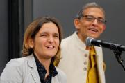 Abhijit Banerjee and Esther Duflo, deux des lauréats du Prix Nobel d'économie 2019, le 14 octobre.