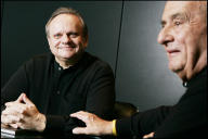 Joël Robuchon (à gauche) et Paul Bocuse, en 2007.