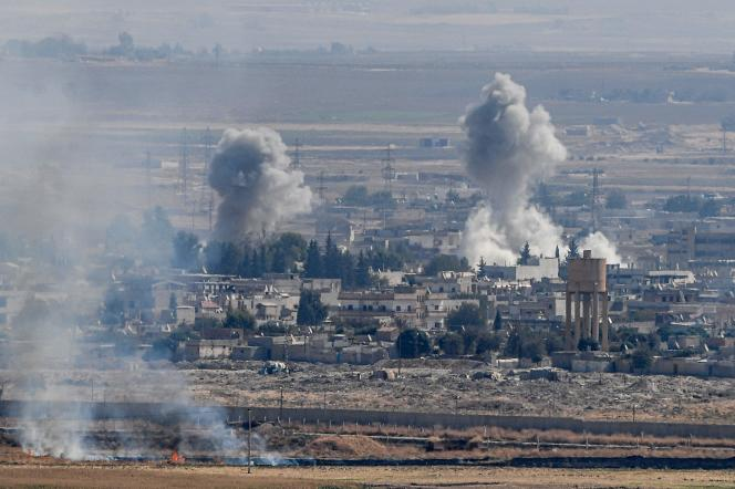 Un bombardement turc touche la ville de Ras Al-Aïn, dans le nord de la Syrie.